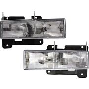 Headlight Lamp Left-and-right For Chevy Suburban Gm2503101c Gm2502101c Lh And Rh