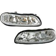 Gm2503154 Gm2502154 Headlight Lamp Left-and-right For Chevy Olds Lh And Rh Malibu
