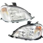 Headlight Lamp Left-and-right For Mercedes Ml Class Lh And Rh Mb2503103 Mb2502103