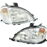 Headlight Lamp Left-and-right For Mercedes Ml Class Lh And Rh Mb2503103, Mb2502103