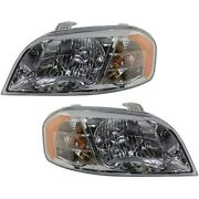 Headlight Lamp Left-and-right For Chevy Gm2503273 Gm2502273 96650525 96650526