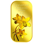 1g Orchid Series 2 Gold Bar / 999.9 Pure Gold / Sg Made / Premium Gifts