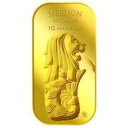 1g X 2 Merlion Fountain And Sg Orchid Set Series 2 Gold Bar/ 999.9 Pure Gold
