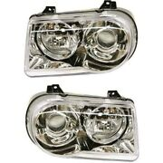 Headlight Lamp Left-and-right Lh And Rh For Chrysler 300 Ch2503167c, Ch2502167c