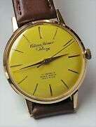 Citizen Homer Pansy Yellow Dial Hand Windimg Vintage Watch 1961and039s Overhauled