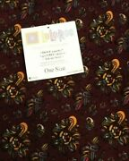 Lularoe Leggings, Os, Maroon Background With Blue And Yellow Floral Pattern, New