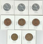 Lot Of 8 Heads I Win Tails You Lose Peep Show Flip Coin Token Nude Woman