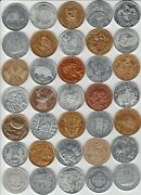 Lot Of 35 Assorted Mardi Gras Doubloons Aluminum Tokens Coins