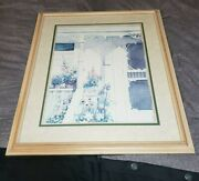 Very Rare Framed And Matted Susan Tolle Mcclure 'victorian Porch' 1987 Lithograph
