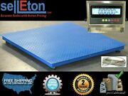 Industrial Floor Scale 60 X 60 With Stainless Steel Indicator 10000 X 1 Lb