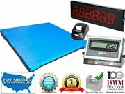 Industrial Floor Scale 48 X 60 With Printer And Scoreboard 5000 Lbs X 1 Lb