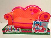 Lalaloopsy Couch Loveseat Furniture Orange Pink Trim Couch Fit 2 Full Size Dolls