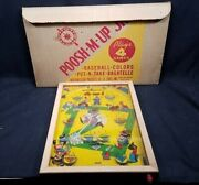 Poosh-m-up Jr. Table Top Pinball Game Baseball 4 In 1 Nib Nos 11 X 17 30and039s Ca