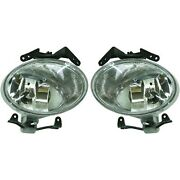 Pair Set Of 2 Fog Lights Lamps Front Left-and-right Hy2593126, Hy2592126 Lh And Rh