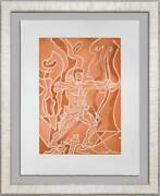 Andre Masson 25x19in Etching Hand Signed And Numbered Arc W/custom Framed