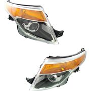 Hid Headlight Lamp Left-and-right Hid/xenon Fo2519127 Fo2518127 Lh And Rh