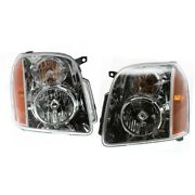 Headlight Lamp Left-and-right For Yukon Lh And Rh Gmc 07-14 Gm2503265c Gm2502265c