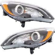 Headlight Lamp Left-and-right Lh And Rh For Chrysler 200 2011-2014