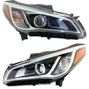 Hid Headlight Lamp Left-and-right Hid/xenon Hy2503184 Hy2502184 Lh And Rh