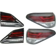 Tail Light Lamp Kit Left-and-right Inside Lh And Rh For Lexus Rx350 Rx450h 13-15