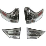 Tail Lights Lamps Set Of 4 Left-and-right Inside Lh And Rh For Toyota Sienna 11-17