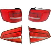 Tail Lights Lamps Set Of 4 Left-and-right Inside For Vw Lh And Rh Volkswagen Jetta