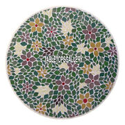 Amazing Marble Center Round Table Top Mosaic Inlay Floral Stone Home Deco H4011a