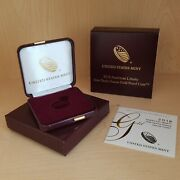 2018 10 Amer. Liberty 1/10th Oz Gold Proof Coin Box Case And Coa Nocoins Set Of 2