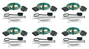Hopkins Mfg 47115 Trailer Wiring Connector Extension 4 Flat Plugs 6 Pack