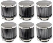 Moroso Performance 68815 Crankcase Breather Filter Clamp-on Type 6 Pack