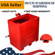 Ballast Box 3 Point Category 1 Tractor Loader 2 Hitches Quick Tach Attachment