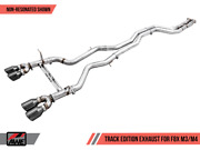 Awe Non-resonated Track Edition Exhaust Diamond Black Tips 90mm For Bmw F8x M3