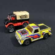 Hot Wheels Vintage 1980, 1990 Cast Iron Toy Trucks Cars Lot Of Two 2