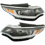 Fit For Optima 2016 2017 2018 Headlight Halogen W/o Daytime Running Right And Left