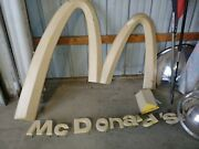 Mcdonaldand039s Golden Arches And Letters Sign From Resturaunt Building Vintage