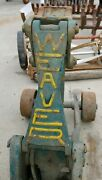 Antique Approximately 1928 Year Weaver Floor Jack With Original Paint Wa-23