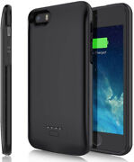 Battery Case For Iphone 5 5s Se, 4000mah Slim Portable Protective Case