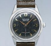 Wittnauer Small Second 506.2 Original Black Dial Automatic Vintage Watch 1950and039s
