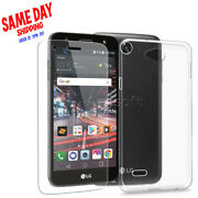 For Lg X Charge M322 Soft Silicone Shockproof Tpu Case Cover + Screen Protector