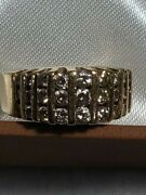 Ladies Yellow 14kt. Gold Wedding/fashion Ring With 27 Full Cut Melee Diamonds