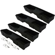 4 Underseat Storage Boxes 1999-2006 Fits Chevy/gmc Silverado/sierra Extended Cab