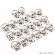 20 Stainless Steel 6mm Square Eye Plates W Ring 1/4 Marine 316 Ss Boat Rigging
