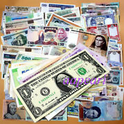 100 Pcs World Banknotes Different 100 Real Paper Money Rare Collections Unc