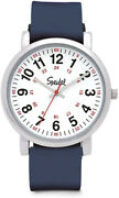 Scrub Watch For Medical Professionals With Navy Silicone Rubber Band -