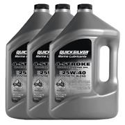Genuine Mercury 25w40 Synthetic Blend 4-cycle Oil 1 Gallon 92-8m0078623 3 Pack