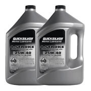 Genuine Mercury 25w40 Synthetic Blend 4-cycle Oil 1 Gallon 92-8m0078623 2 Pack