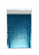 1000 Pieces Glamour Blue Metallic Poly Bubble Padded Mailer 13 X 17 ½ Inches