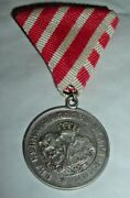 Medals-original Bulgaria/bulgarian Silver Medal For The War With Serbia 1885