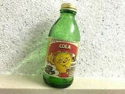 1980and039s Empty Green Sun Charm Cola Bottle - Collectors - British - Vintage - Rare