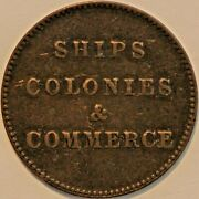 Old Canadian Coins Token Breton 997 Ships Colonies Commerce R5 B+747